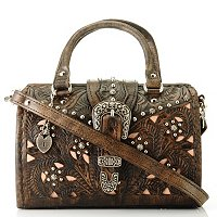 American West Hand Tooled Leather Small Coach
