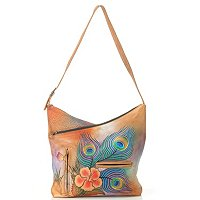 ANUSCHKA HAND-PAINTED LEATHER V-TOP HOBO
