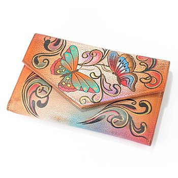 705-897 - Anuschka Hand Painted Leather Trifold Wallet