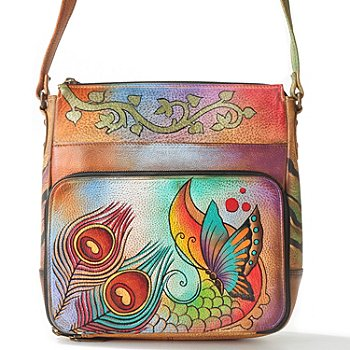 706-073 - Anuschka Hand-Painted Leather Crossbody Satchel