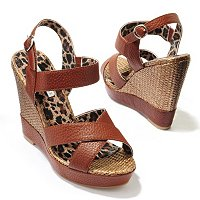 LOVELY PEOPLE BONNIE CRISSCROSS BANDED WEDGE