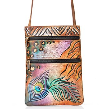 706-174 - Anuschka Hand-Painted Leather Mini Cross Body Travel Companion