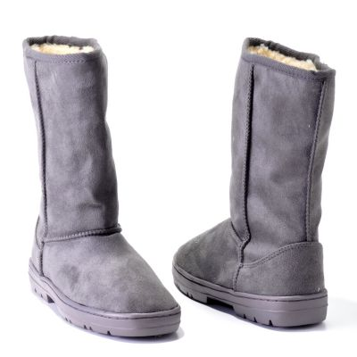 706-828 - Adi Designs Lug Sole Faux Shearling Mid-Calf Boots