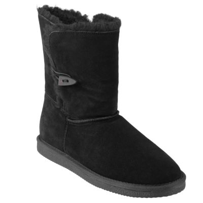 707-046 - Pawz by Bearpaw Women's Shearling Lined Suede Mid-Calf Boots