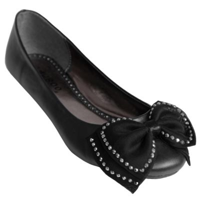 708-351 - Journee Collection Women's Bow Accent  Ballet Flats
