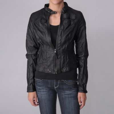 708-381 - Hailey Jeans Co. Faux Leather Jacket
