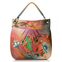 ANUSCHKA HAND PAINTED LARGE CONVERTIBLE TOTE HANDBAG