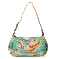 ANUSCHKA HAND PAINTED LEAHTER SMALL SHOULDER HANDBAG