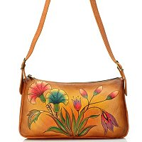 ANUSCHKA HAND PAINTED LEAHTER EAST-WEST SHOULDER HANDBAG