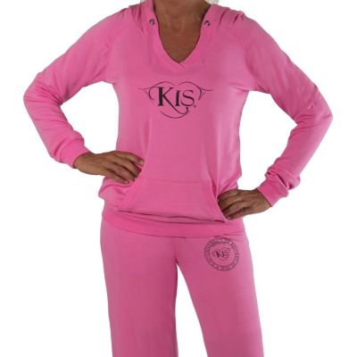 709-352 - KIS® Fashions Luxury V-Neck Loose Fit Hoodie