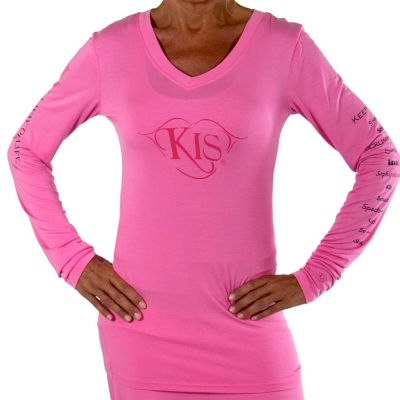 709-353 - KIS® Fashions Luxury Long Sleeved V-Neck Top