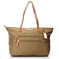 CLAVIN KLEIN HANDBAGS NYLON ZIP TOP TOTE