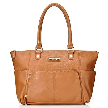 709-371 - Calvin Klein Handbags Leather East/West Zip Tote