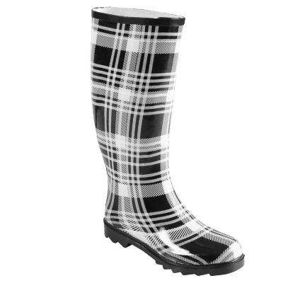 709-400 - Hailey Jeans Co. Women's Lined Plaid Rainboots