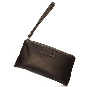 709-459 - Hartmann® Zippered Aviator Leather Wristlet