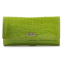 Buxton Croco Embossed Womens Flip RFID Wallet