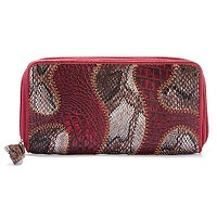 "Madi Claire ""Brianna"" Matte Leather With Snake Print Wallet"