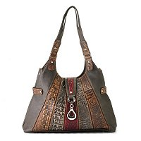 "Madi Claire ""Isabel"" Multi Leather Stripe Hobo"