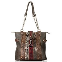 "Madi Claire ""Isabel"" Multi Leather Stripe Tote"