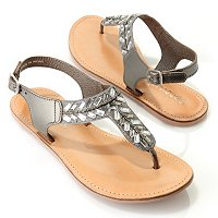 Coconuts Orbitz Beaded Quarter Strap Sandals