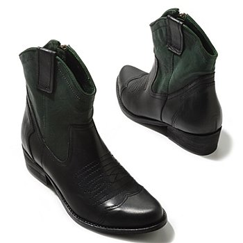 709-578 - MIA ''Richwood'' Two-tone Western Leather Ankle Boots