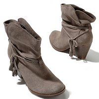 MIA Dani Suege Side Tassel Ankle Boot