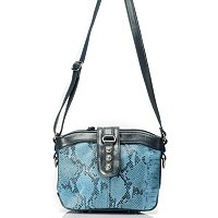 "Madi Claire ""Jaden"" Croco Embossed Leather Crossbody"