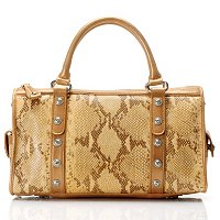 "Madi Claire ""Jaden"" Croco Embossed Leather Convertible Satchel"