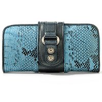 "Madi Claire ""Jaden"" Croco Embossed Leather Wallet"