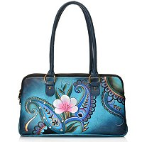 Anuschka Hand Painted Leather Compartment Satchel