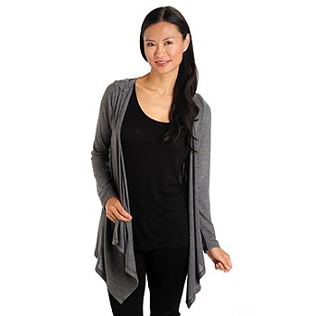 709-658 - One World Long Sleeved Open Front Backlique Cardigan