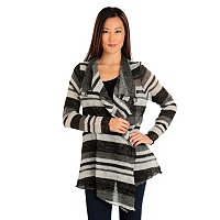 One World Multi Stripe Fly Away Cardigan