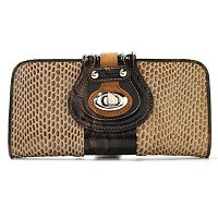 "Madi Claire ""Lynne"" Snake Printed Leather Wallet"