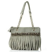 Bag Chique 3 Compartment Shoulder Bag with Fringe an dStuds