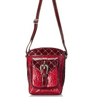 "Madi Claire ""Kristine"" Ostrich Embossed Leather Organizer bag"