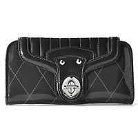 "Madi Claire ""Jennifer"" Leather Wallet with Quilted Stitching"