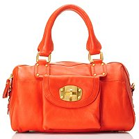 Michael Rome Leather Double Handle Satchel with Shoulder Strap