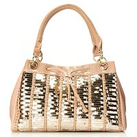 Nicole Lee Sequin Double Handle Satchel