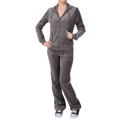 709-837 - Hailey Jeans Co. Womens 2-pc Velour Track Suit