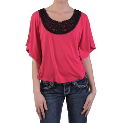 709-857 - Journee Collection Women's Sequined Caftan Sleeve Top