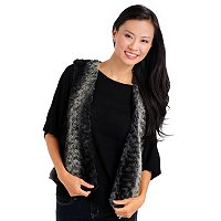 Olivia & Grace Knit Back Faux Fur Vest