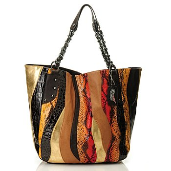 709-920 - Carlos by Carlos Santana ''Melodia'' Chain Shopper Handbag