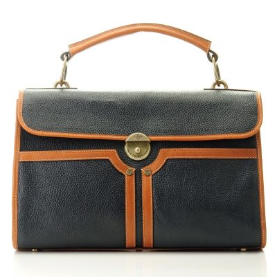 "709-938 - PRIX DE DRESSAGE ""Grace"" Flap Over Leather Satchel"