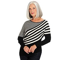 One 7 Six Diagonal Stripe Dolman Sweater