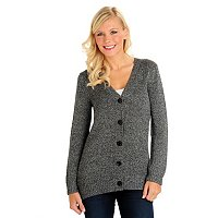 Love Carson Long Lurex Cardigan