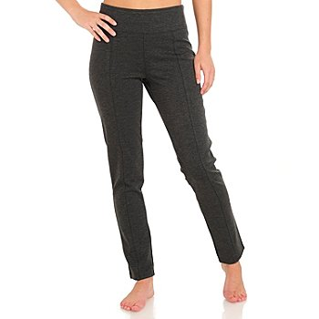 709-980 - Love, Carson by Carson Kressley Stretch Knit Side Zipped Leggings