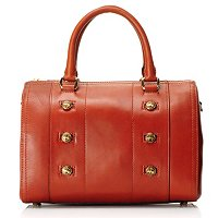 Brooks Brothers Burnished Calf Barrel Handbag