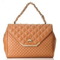 Brooks Brothers Quilted Lambskin Medium Flap Handbag