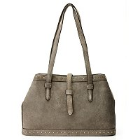 Brooks Brothers Kid Suede Small Nailhead Tote