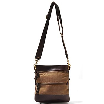 710-002 - Brooks Brothers® Canvas Cross Body Bag
